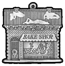Bake Shop Pewter Stock Ornament - front