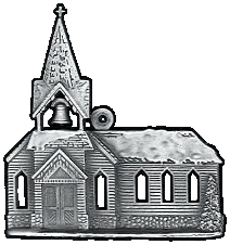 Church Pewter Stock Ornament - front