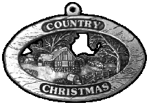 Country Christmas pewter Christmas ornament