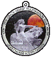 Crazy Horse 2014, Volksmarch custom pewter ornament - series - Color on pewter