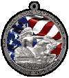 Crazy Horse 2013, Volksmarch custom pewter ornament - series - Color on pewter