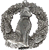 Fox Valley Academy custom pewter medallion Series 2008 based on stock Cat Christmas Ornament