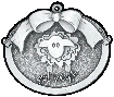 custom pewter ornament - sheep