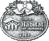 Habitat For Humanity custom pewter ornament - front view
