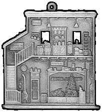 Church Pewter Stock Ornament - back