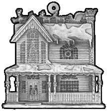 House Pewter Stock Ornament - front