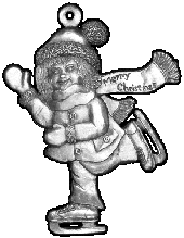 Girl Skater pewter Christmas ornament