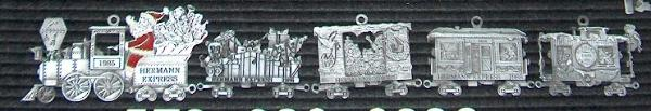 Train series custom pewter ornament  (5 year series)